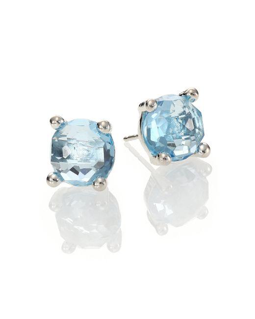 Ippolita | Metallic Rock Candy Blue Topaz & Sterling Silver Stud Earrings | Lyst
