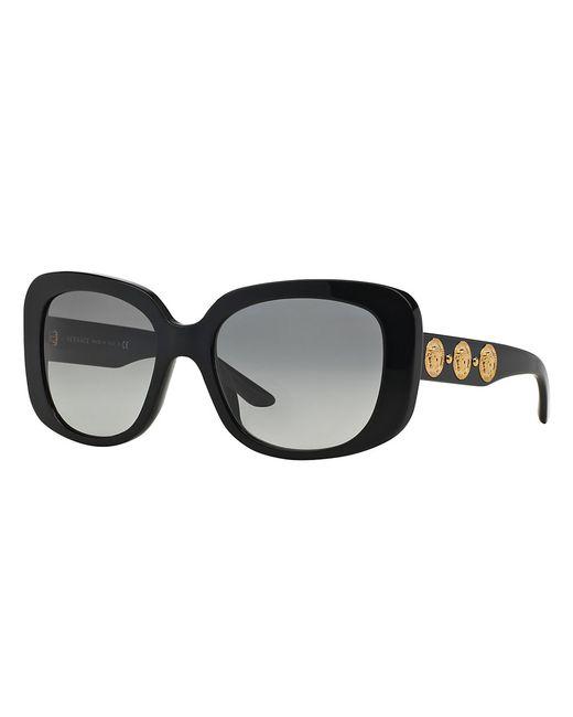 Versace | Black Triple Medusa Rectangle 56mm Sunglasses | Lyst