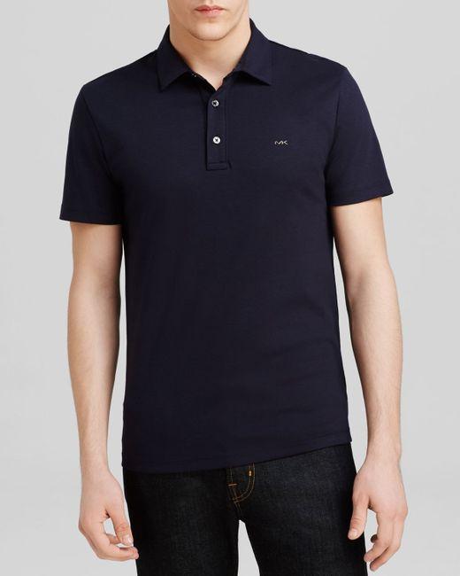 Michael Kors   Blue Sleek Logo Polo - Regular Fit for Men   Lyst