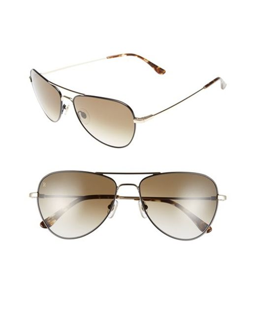 Raen | Metallic 'roye' 58mm Sunglasses for Men | Lyst