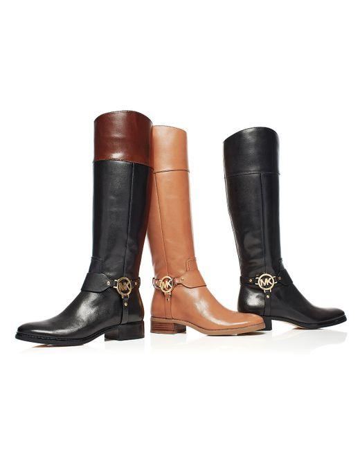 Michael Michael Kors Fulton Harness Leather Riding Boots