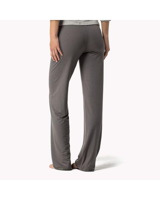 Tommy Hilfiger | Gray Modal Stretch Sweatpants | Lyst