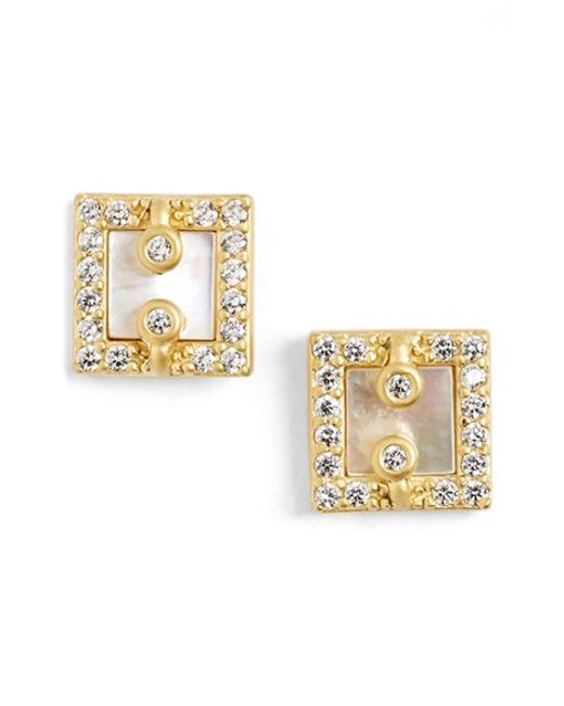 Freida Rothman | Metallic 'visionary' Square Stud Earrings | Lyst
