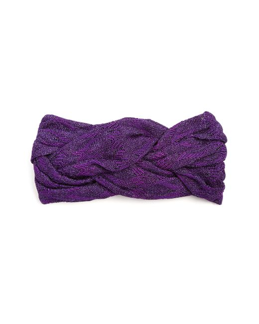 Missoni | Purple Braided Knit Headband | Lyst