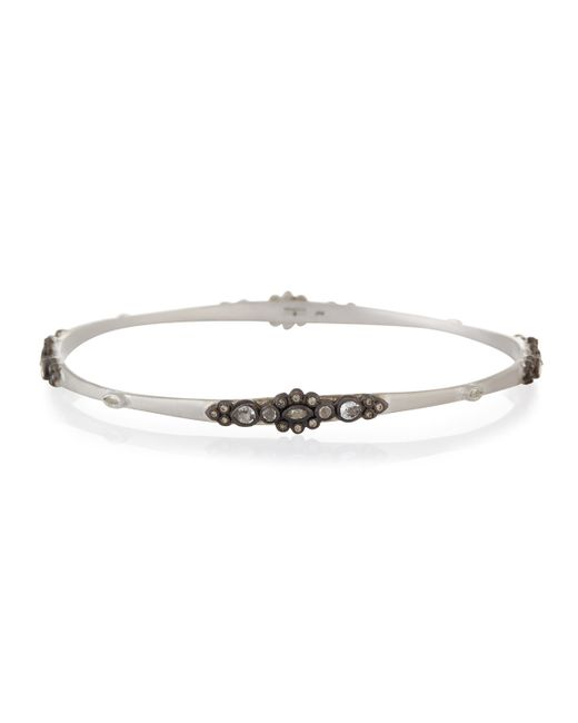 Armenta | Metallic New World Lacy Champagne Diamond Bangle | Lyst