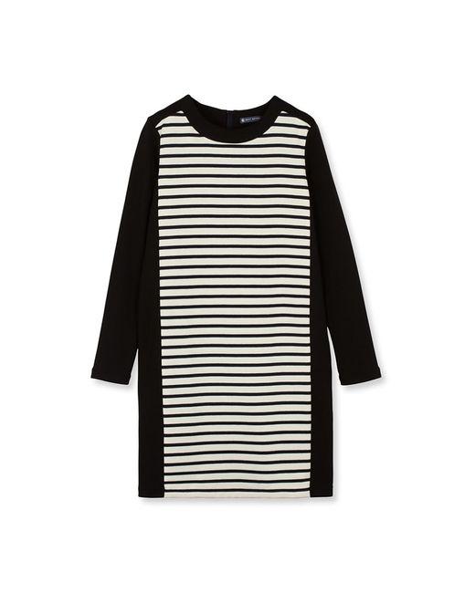 Petit Bateau   Black Women's Striped Shift Dress   Lyst