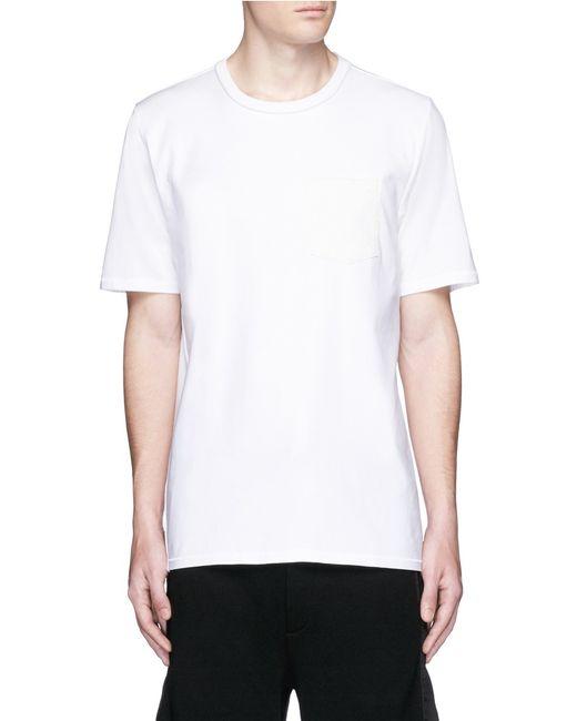Rag Bone 39 Flint 39 Contrast Front T Shirt In White For Men