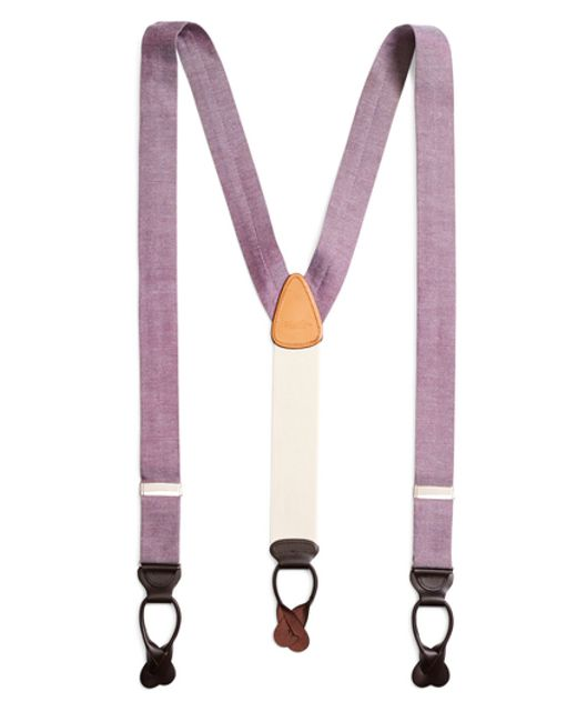 Brooks Brothers | Purple Chambray Suspenders for Men | Lyst