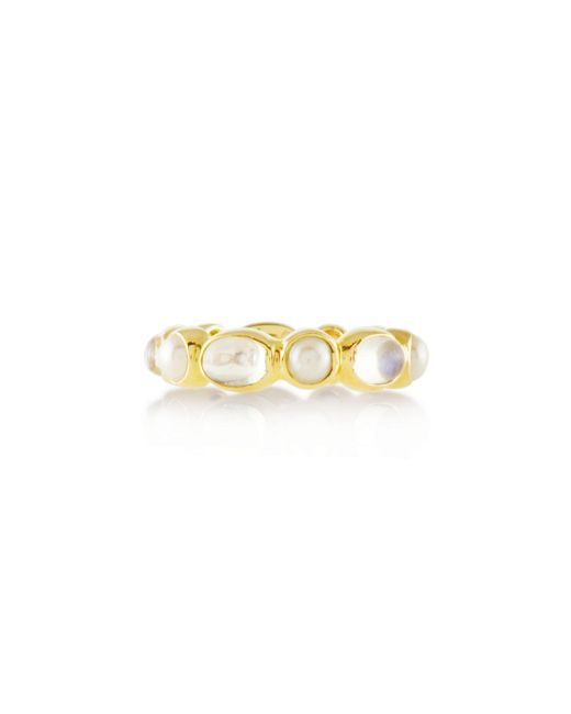 Emily & Ashley | Metallic Pearl and Moonstone Ring | Lyst