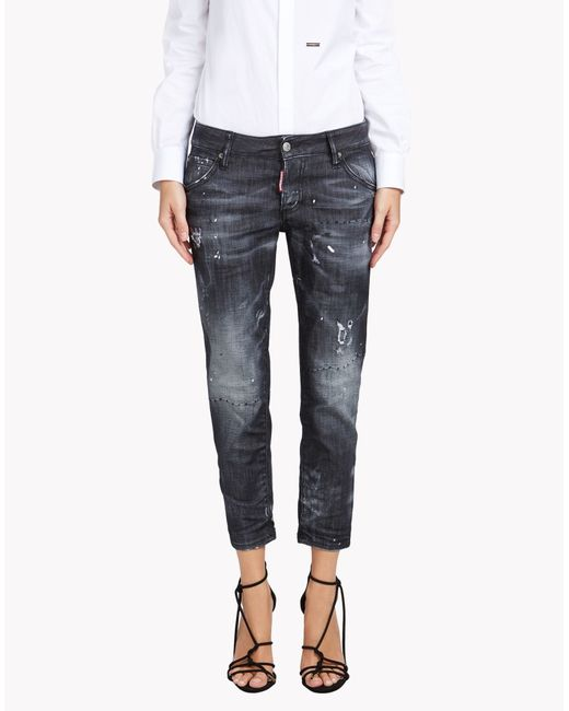 DSquared² | Black Denim Trousers | Lyst