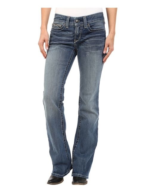 Ariat Real Riding Jeans Whipstitch In Rainstorm