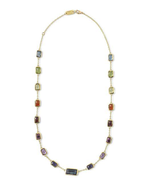 Ippolita | Metallic 18k Gold Rock Candy Multi-stone Necklace In Fall Rainbow | Lyst