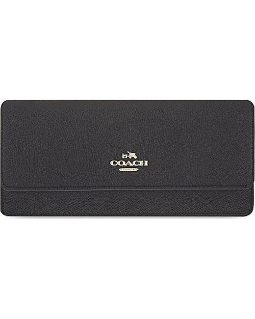 COACH | Black Soft Longline Leather Wallet | Lyst