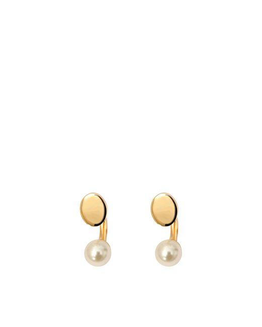 Chloé | White Darcey Round Pierced Earrings | Lyst