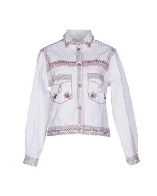 Étoile Isabel Marant   White Denim Outerwear   Lyst