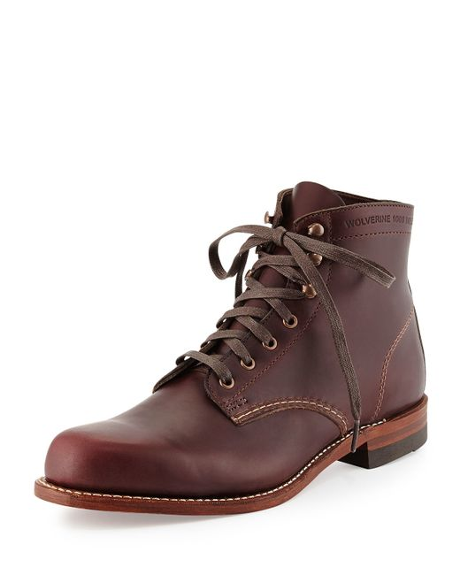 wolverine cordovan 1000 mile boot in brown for lyst