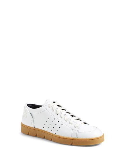 Loewe | White Leather Low-Top Sneakers | Lyst