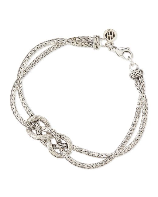 John hardy classic chain silver love knot bracelet in for John hardy jewelry factory bali