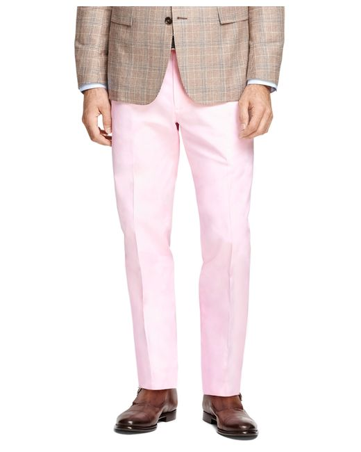 Brooks Brothers   Pink Clark Fit Oxford Chinos for Men   Lyst