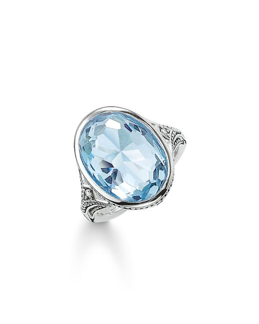 Thomas Sabo | Purity Of Lotos Light Blue Cocktail Ring | Lyst