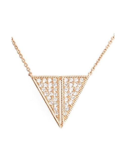 Dana Rebecca | Metallic 'aria Selene' Triangle Pendant Necklace | Lyst