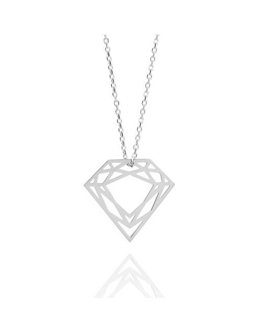 Myia Bonner | Metallic Silver Classic Diamond Necklace | Lyst