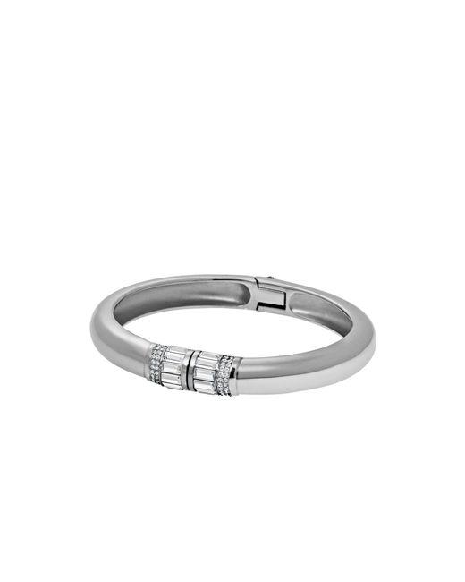 Michael Kors | Brown Baguette Silver-tone Bracelet | Lyst