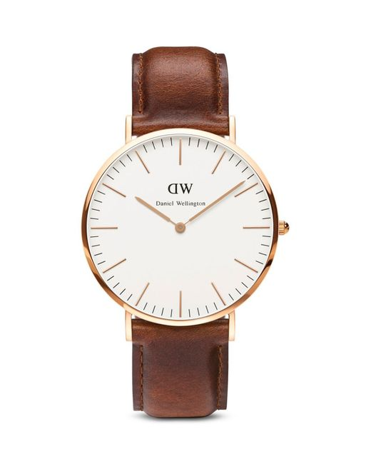 Daniel Wellington Classic St Andrews Watch 40mm In Brown