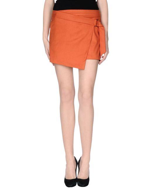 GAUDI | Orange Mini Skirt | Lyst