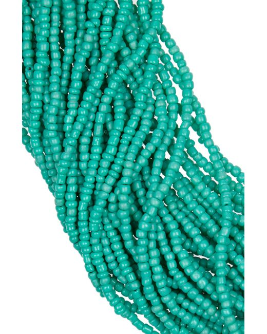Kenneth Jay Lane | Blue Multistrand Beaded Necklace | Lyst