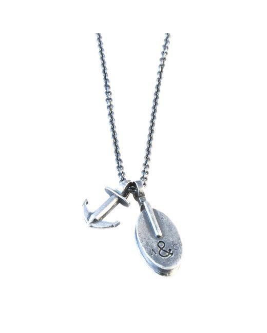 Anchor & Crew | Metallic Silver Windlass Salcombe Voyage Necklace Pendant for Men | Lyst