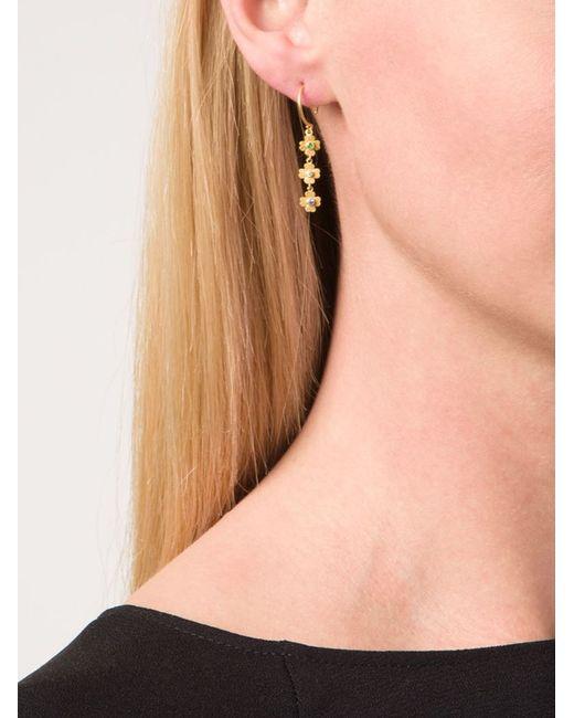 Marie-hélène De Taillac   Metallic Flower Pendant Earrings   Lyst