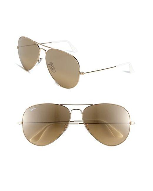 Ray-Ban | Metallic 'large Original Aviator' 62mm Sunglasses | Lyst