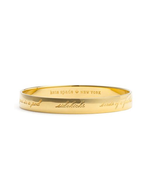 kate spade new york | Metallic 'idiom - Bridesmaid' Bangle | Lyst