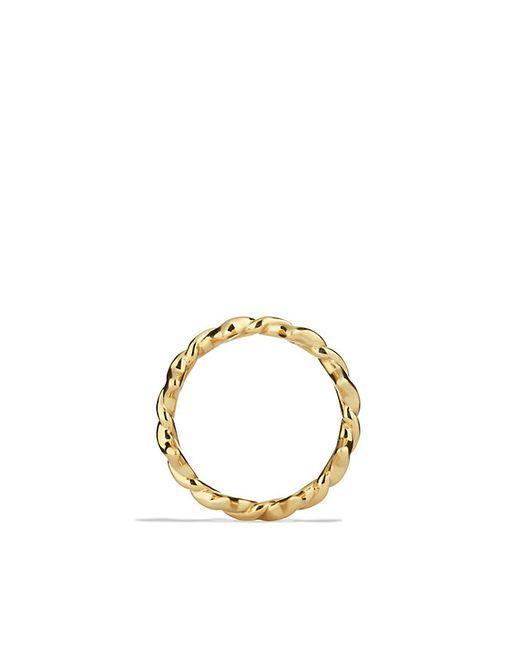 David Yurman | Metallic Venetian Quatrefoil Stacking Ring In 18k Gold | Lyst