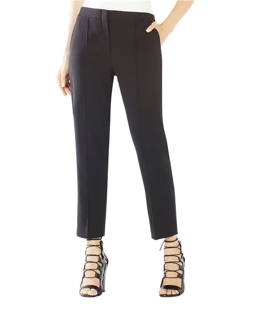 BCBGMAXAZRIA | Black Gerry Cropped Trousers | Lyst