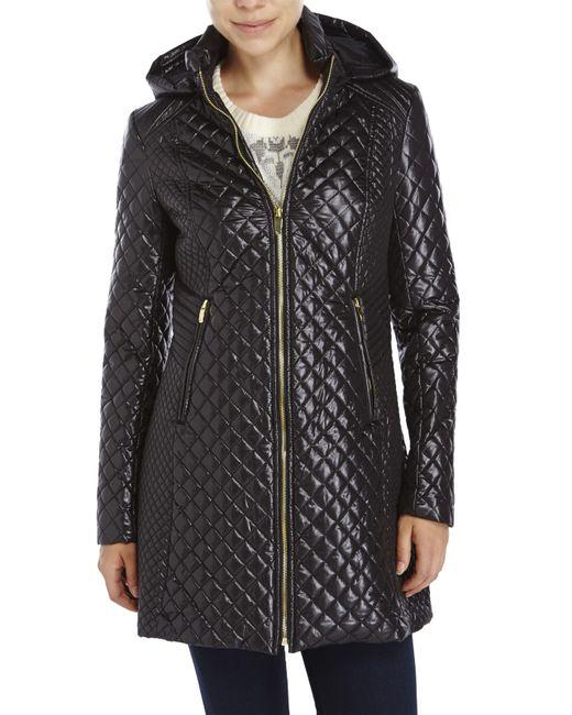 Via Spiga | Black Diamond Quilted Zip Front Jacket | Lyst
