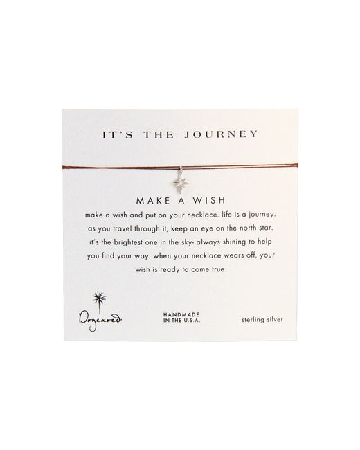 Dogeared | Brown Make A Wish It's The Journey Necklace | Lyst