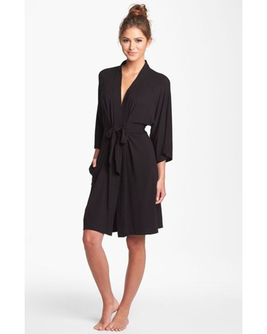 DKNY | Black 'urban Essentials' Robe | Lyst