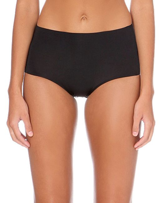Spanx | Black Retro Stretch-jersey Shorts | Lyst