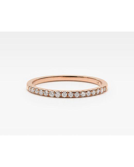 Vrai & Oro | Pink Petite Diamond Band Pair | Lyst