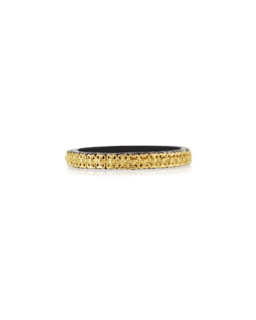 Armenta | Metallic Midnight & 18k Gold Stackable Band Ring | Lyst