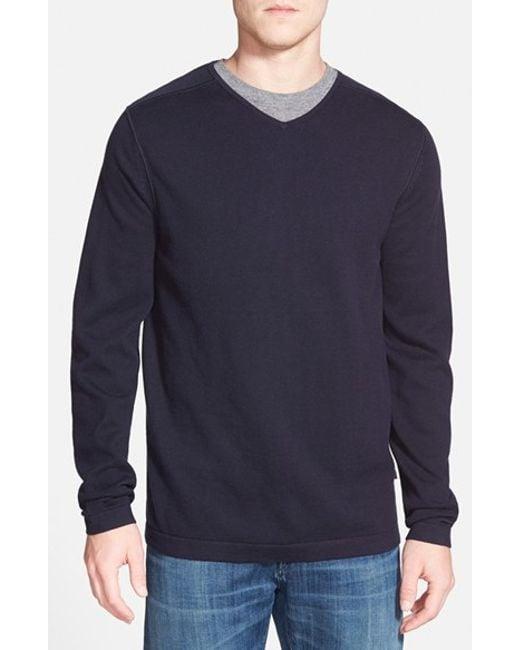 Tommy Bahama | Blue 'seaside Lux' V-neck Sweater for Men | Lyst