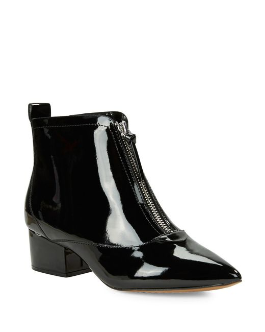 connection robrey patent leather ankle boots in
