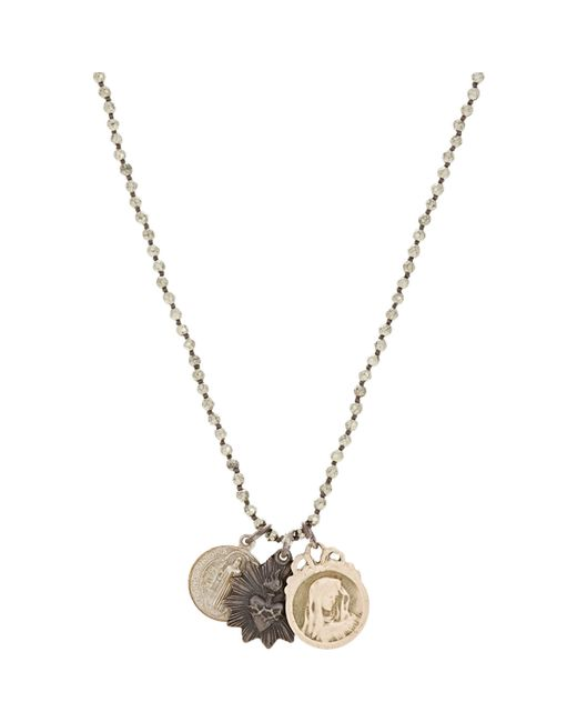 Miracle Icons | Metallic Triple-pendant Necklace | Lyst