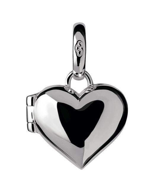 Links of London | Metallic Sterling Silver Heart Locket Charm | Lyst