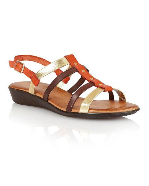 Lotus | Orange Lucca Open Toe Sandals | Lyst