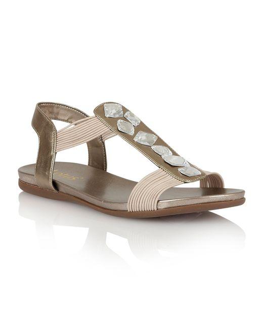 Lotus | Metallic Myrtill Open Toe Sandals | Lyst