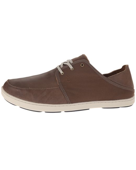 Olukai | Brown Nohea Lace Leather for Men | Lyst