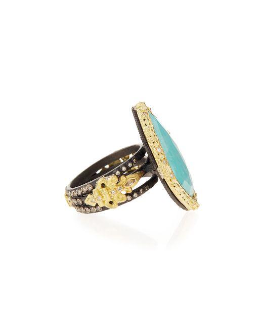 Armenta | Old World Blue Turquoise & Diamond Ring | Lyst